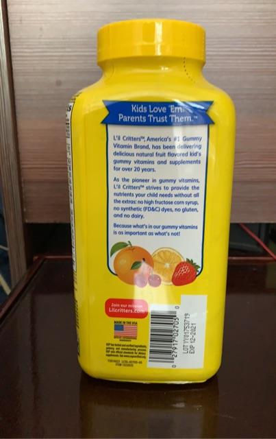 Kẹo gấu dẻo bổ sung vitamin gummy vites lil critters 300 viên mỹ