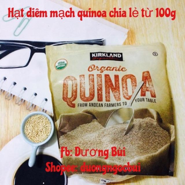 HỮU CƠ - Hạt Diêm mạch quinoa chia lẻ 100g date mới 3.2020