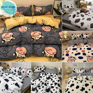 Bộ sưu tập bộ chăn ga và vỏ gối Cotton Poly Bò sữa Minh Nhật - Hàng nhập khẩu cao cấp