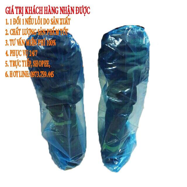 áo mưa mỏng tiện lợi kết hợp giày đi mưa siêu bền [COMBO]