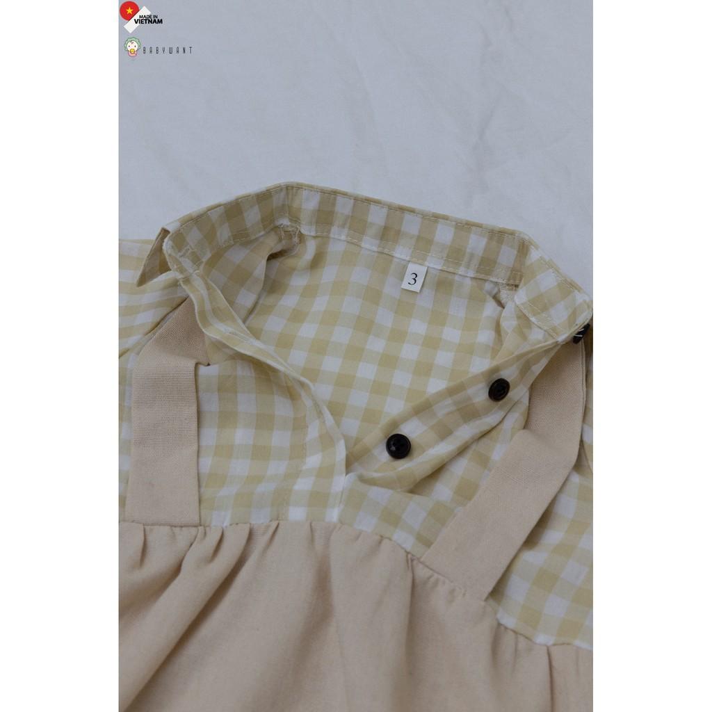 Bodysuit kẻ phối Linen cho bé từ 5 đến 13kg