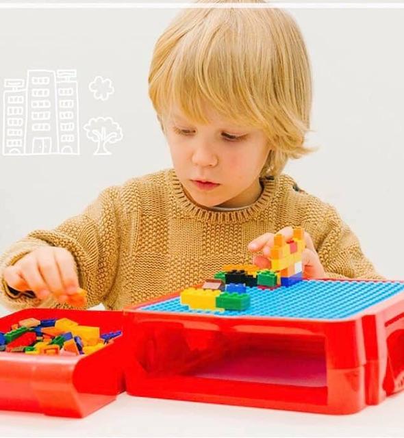 HỘP VALI LẮP RÁP KÈM LEGOO CHO BÉ