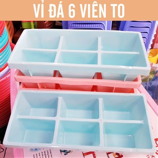 Vỉ Đá Nhựa Dẻo Để Tủ Lạnh 1 Vỉ 6 Viên Cao Cấp Cao Cấp