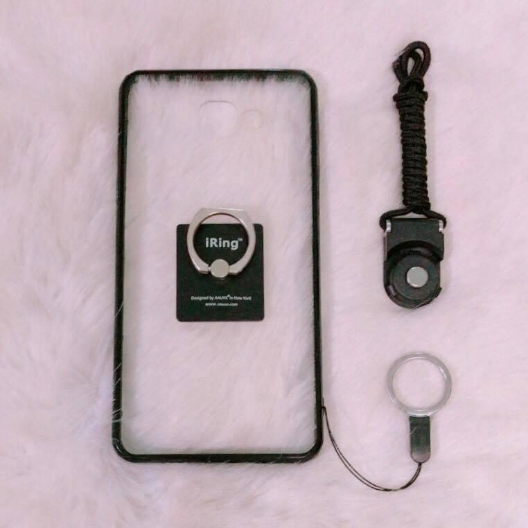 < COMBO HOT > ốp SAMSUNG A9 / A9 Pro + iring + dây đeo