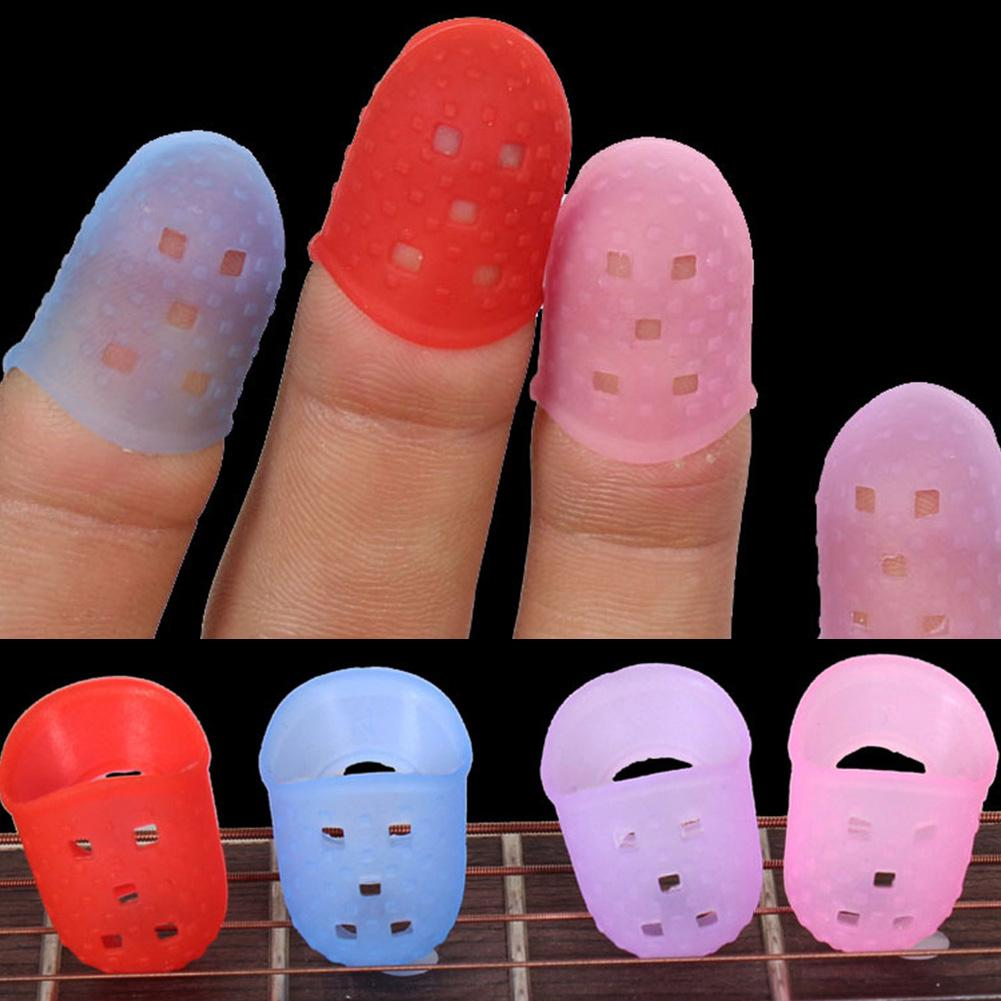 4PCS Guitar Fingertip Protectors Finger Guards For Ukulele Accessories