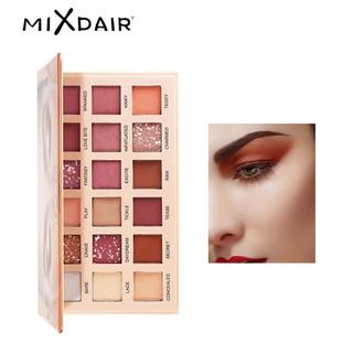 Bảng phấn mắt 18 màu MIXDAIR với màu lì và màu nhũ trang điểm lâu trôi chống thấm nước 28.8g thumbnail
