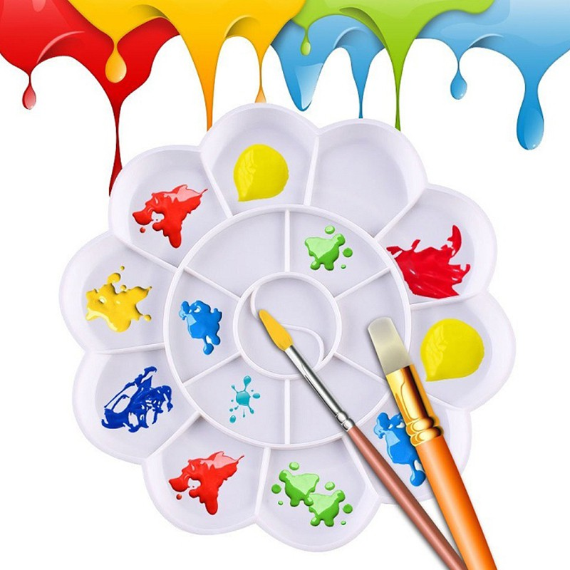 SUP 18Well Watercolor Plastic Oil Painting Tray Mixing Palette Artist Drawing Supply