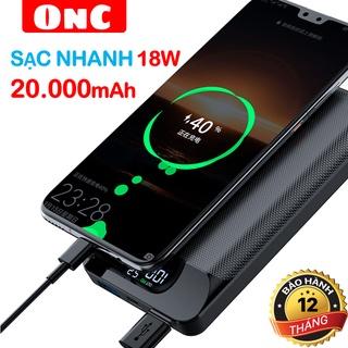 [Siêu sale 10/10] Sạc dự phòng 20000mAh sạc nhanh 18W QC3.0/PD mã ONC Flash Titan hiển thị LCD
