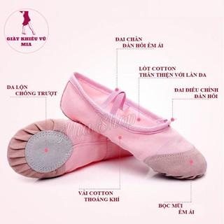 Giày Múa Ba Lê Mềm Mại [Size 22 -> 33]