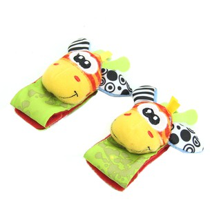 Animal Infant Baby Kids Hand Wrist Bells Foot Sock Rattles Soft Toys New