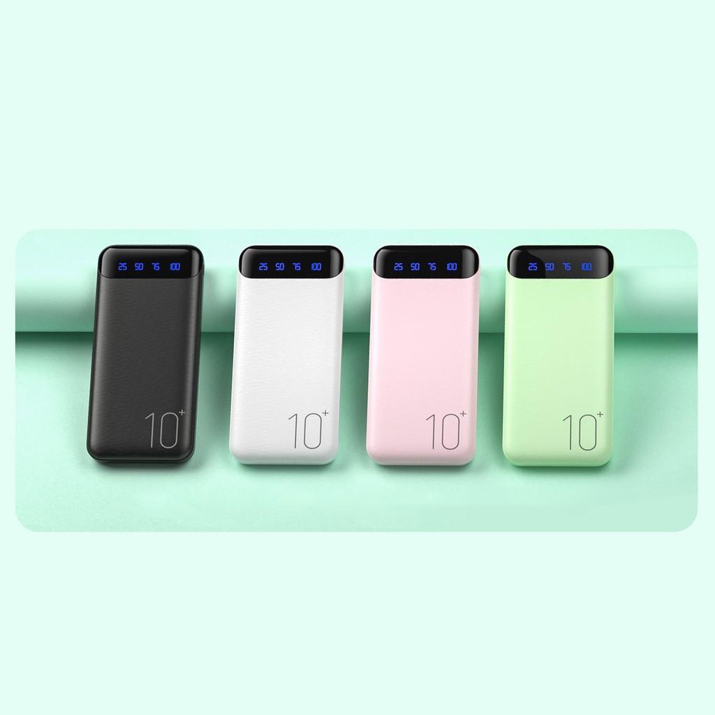[ Giá Sỉ ] Pin Sạc Dự Phòng 10000mAh, Chính Hãng REMAX, Đèn Led Hiển thị Pin, 2 Cổng Sạc USB, BH 6Tháng
