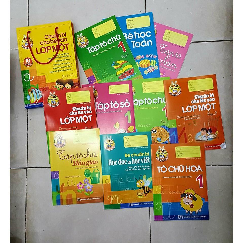 Sách - Hành trang cho bé vào lớp 1 dành cho bé tuổi 3-5 tuổi (Bộ túi 10 cuốn)