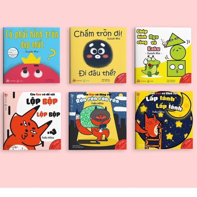 Sách - Combo 6 cuốn Hình khối, Âm thanh - Ehon Nhật bản cho bé từ 0 - 6 tuổi