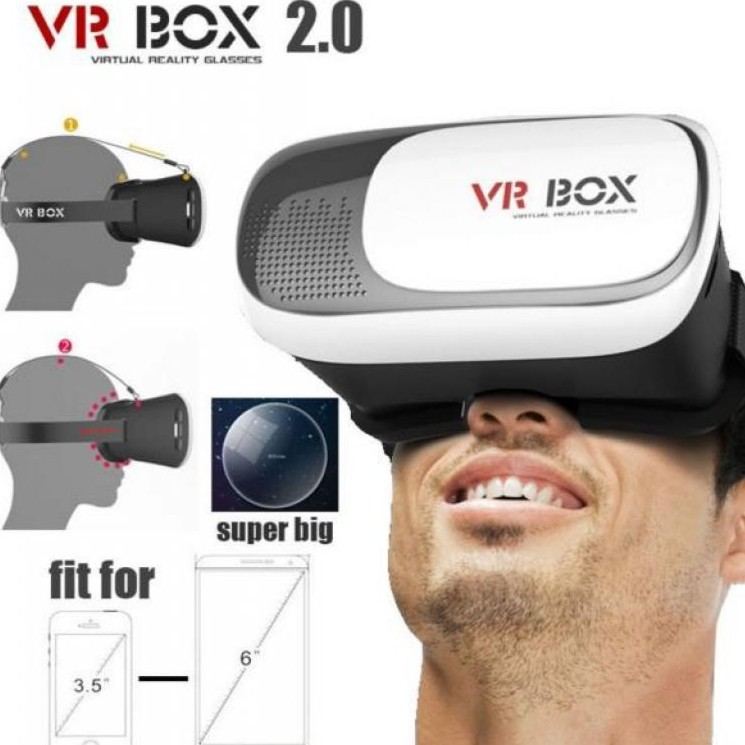 VR Box 2 xem phim 3D - Kính thực tế ảo ( Freeship Toàn Quốc )