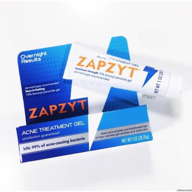 Kem Chấm Mụn Zapzyt Acne Treatment Gel 10 Benzoyl Peroxide Gel