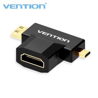 [Mã ELORDER5 giảm 10K đơn 20K] Đầu chuyển đổi Mini HDMI + Micro HDMI to HDMI Vention