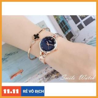 [Hàng chính hãng] Đồng hồ nữ Kezzi kw1700 hàng chính hãng dây kim loại mặt kim tuyến