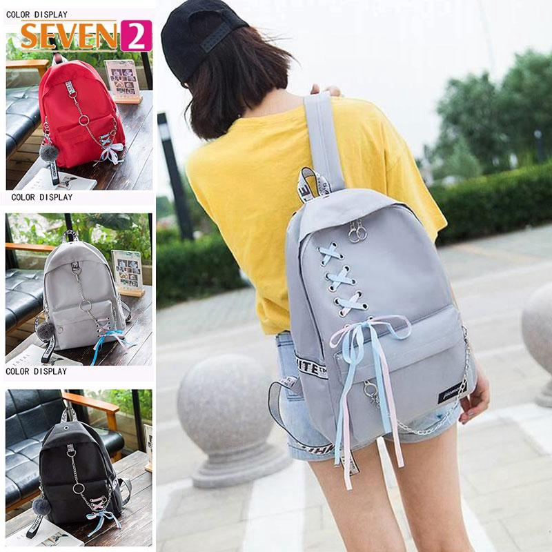 College Backpack Popular Ball Top Double Shoulder Backpack Nylon RANSEL