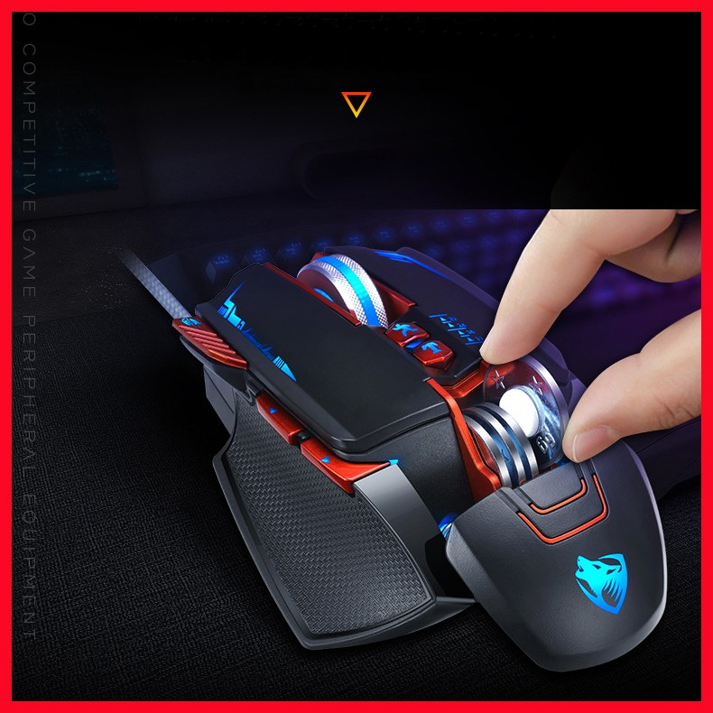 Chuột gaming khủng V9 cực chất 7 nút  DPI khủng 4800, LED RGB đổi màu bh 12 tháng