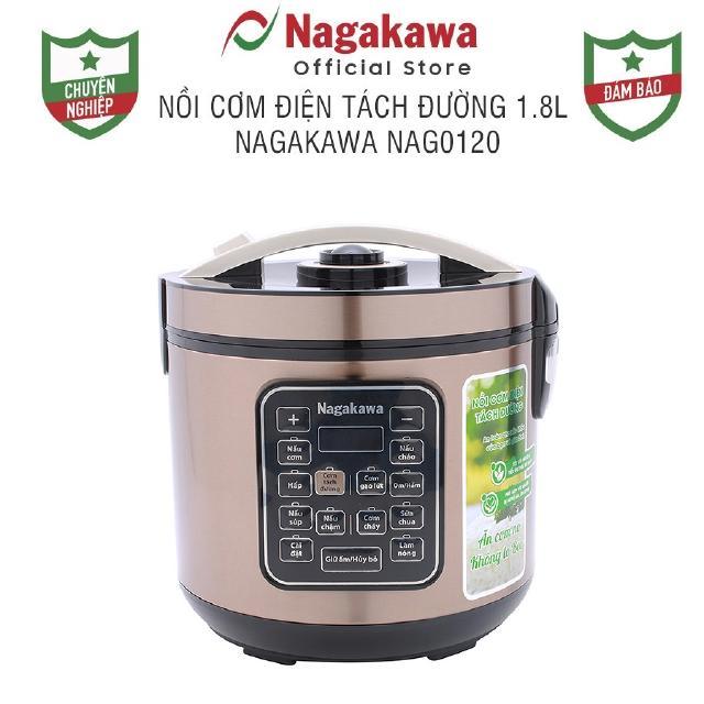 Nồi cơm điện tách đường 1.8L Nagakawa NAG0120 thumbnail