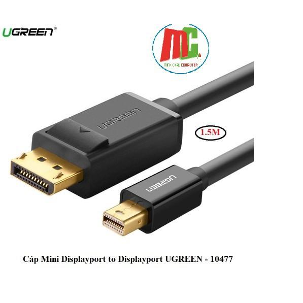 [Mã ELFLASH3 hoàn 10K xu đơn 20K] Cáp Chuyển Mini DisplayPort Sang DisplayPort 1,5 mét Ugreen 10477 - Hàng Chính Hãng