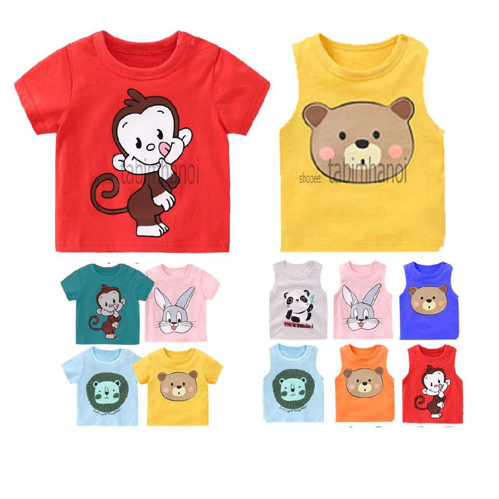 Áo phông trẻ em hoạt hình cho bé sơ sinh tới 18kg QATE529