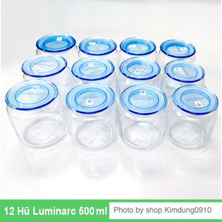 Sỉ 1 thùng 12 hũ thủy tinh Luminarc 500ml