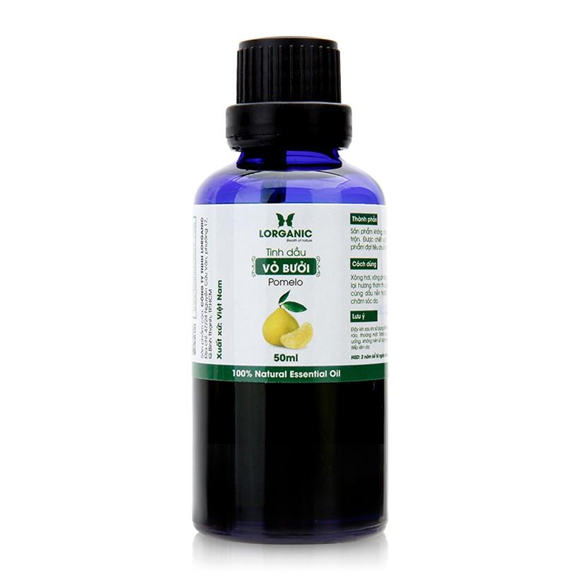 Tinh dầu vỏ bưởi nguyên chất Lorganic Pomelo 100% Natural Essential Oil 50ml
