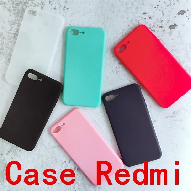 Ốp điện thoại màu trơn dành cho Xiaomi Redmi 4X 5 5A 6 A2 Note3 Note4 Note4X