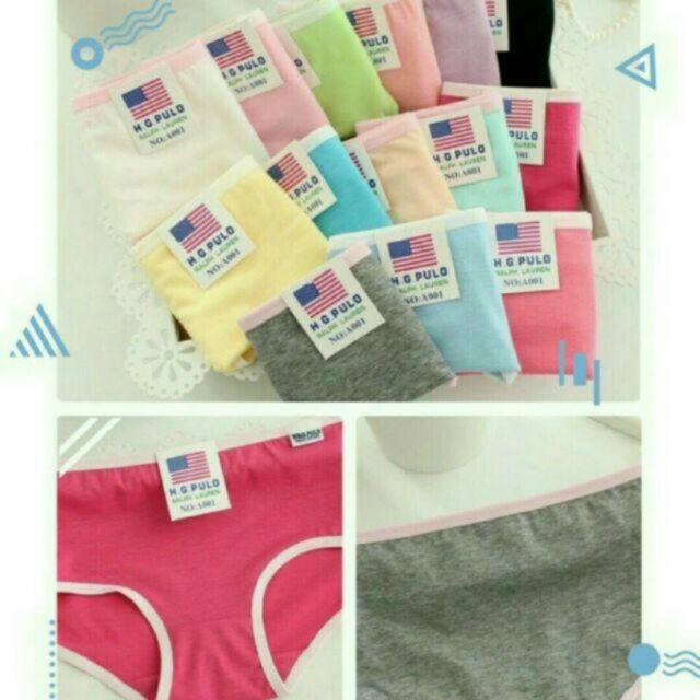 Combo 5 quần lót xuất Mỹ. 5 quần trộn màu ngẫu nhiên, ko bán chọn màu ạ. Ảnh thật