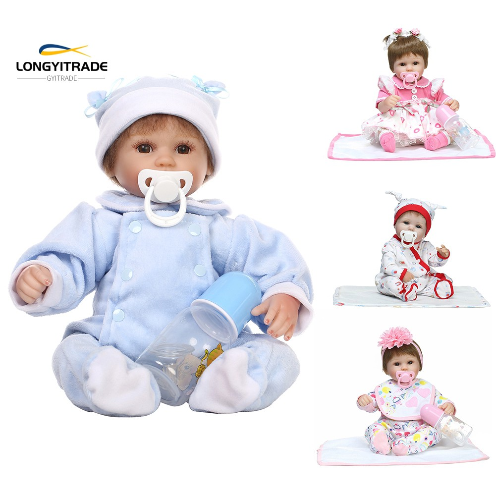 16inch Handmade Vinly Silicone   Doll  Pretend Play Toy