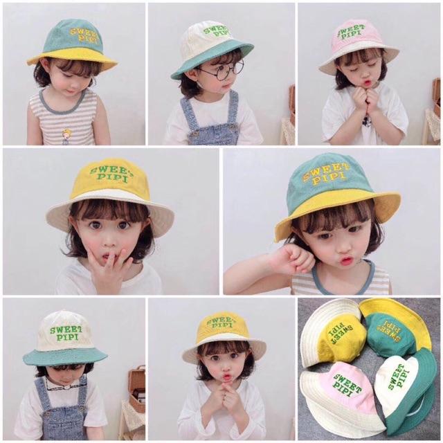 [Mã KIDT8 hoàn 50K xu đơn 99K] Mũ nón vành rộng ulzzang nhiều màu cho bé