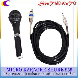 [Mã ELFLASH5 giảm 20K đơn 50K] Micro Karaoke Shure 959 dây dài 5m