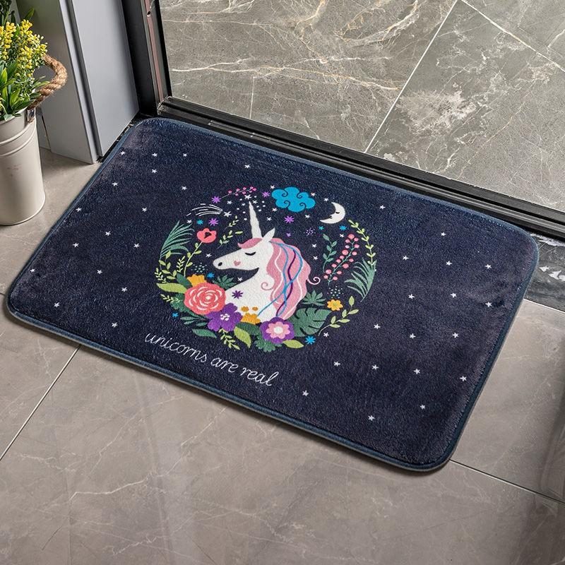 Thảm chùi chân, thảm lau chân vải ép thấm nước kích thước 60x40 cm