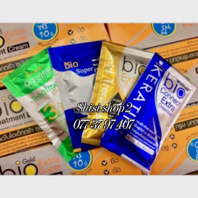 💐🍒💐(HCM)Ủ tóc gói 30g siêu mượt Bio Treatment thái Lan