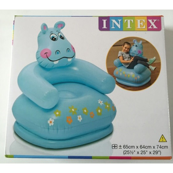 Ghế hơi trẻ em hình Hà Mã Intex Xanh