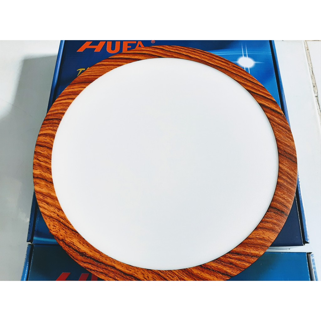 Đèn Ốp Trần Tròn Vuông 12W 18W 24W Vân Gỗ HUFA 3 Chế Độ Bh 3 Năm