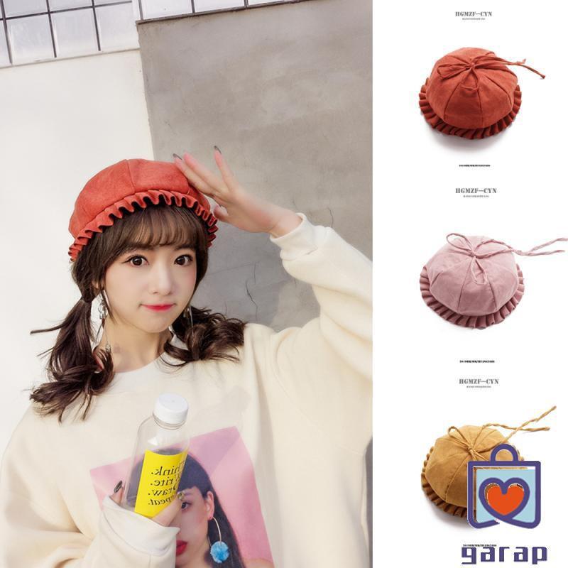 Hat female spring and summer fresh soft sister beret Ha