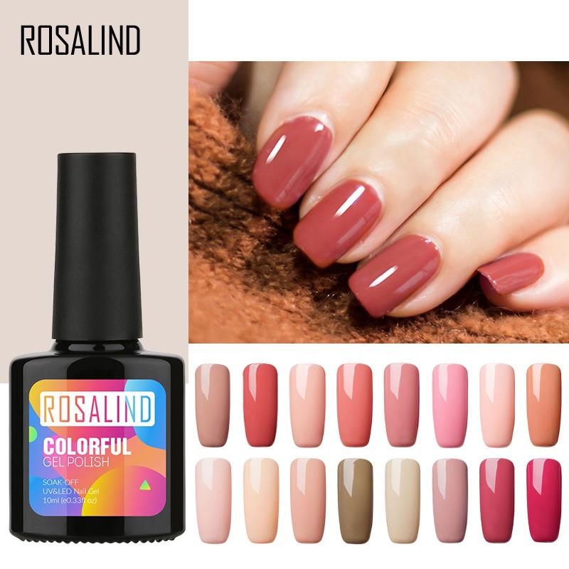 Lọ gel sơn móng tay thương hiệu Rosalind nhiều màu sắc hợp thời trang tùy
