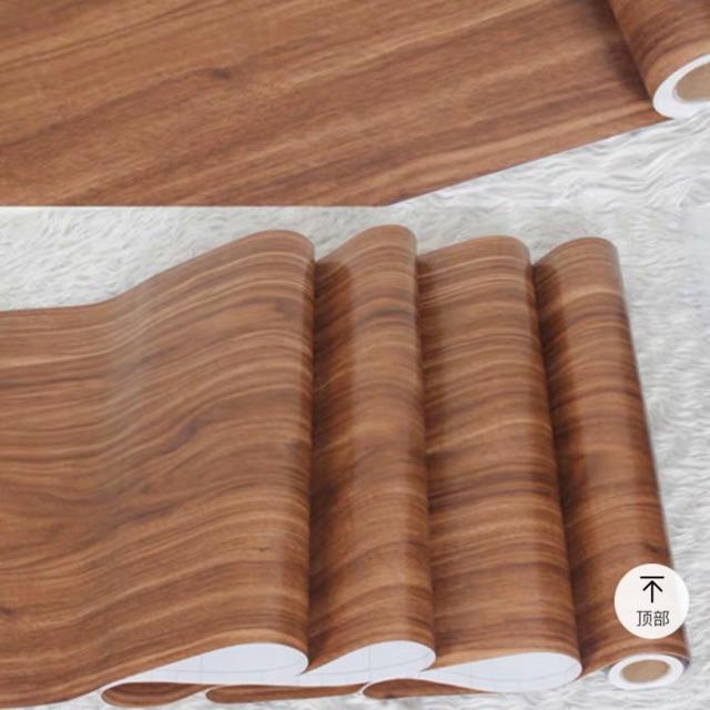 Giấy dán tường giả gỗ óc chó_ decal dán tường 10M*45cm