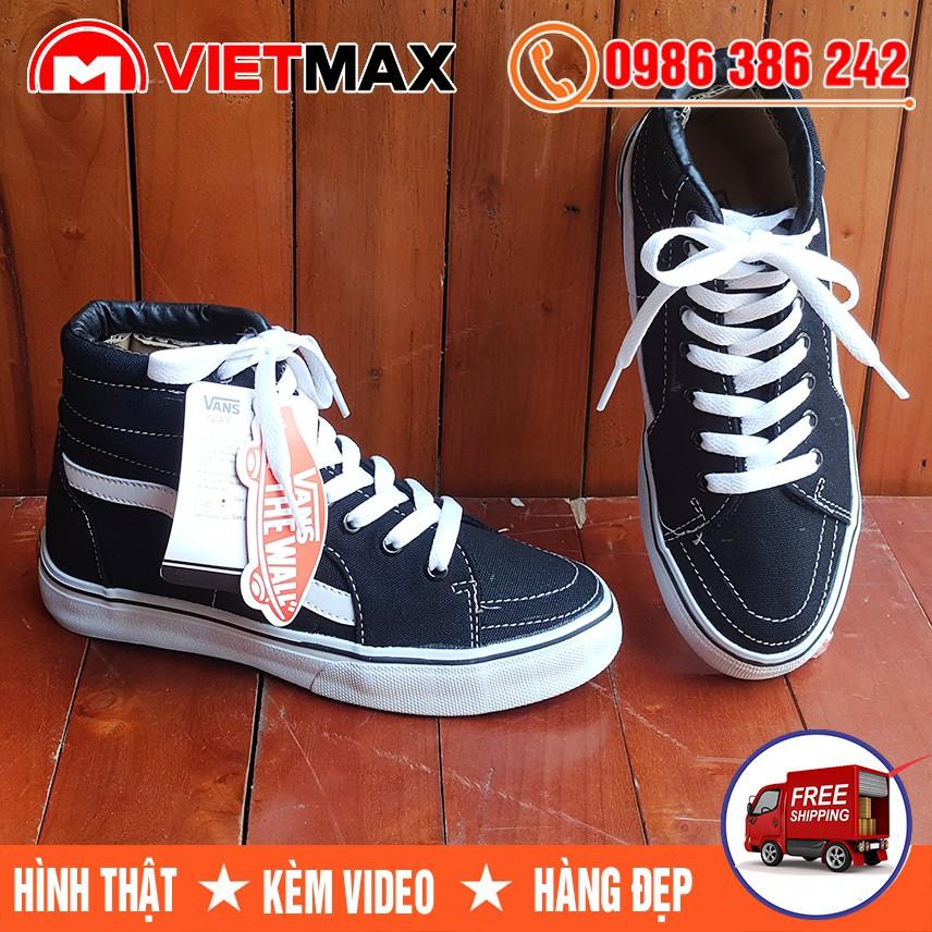 ⚡[FREE SHIP] Giày Vans SK8 Old Skool Cao Cổ Đen Trắng Hàng Việt Nam