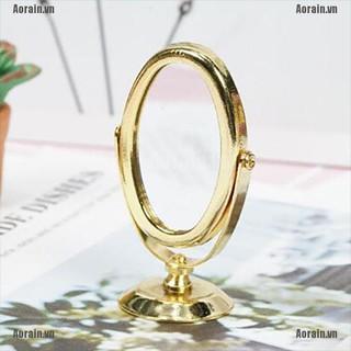 MT 1/12 Dollhouse golden miniature metal mirror NY