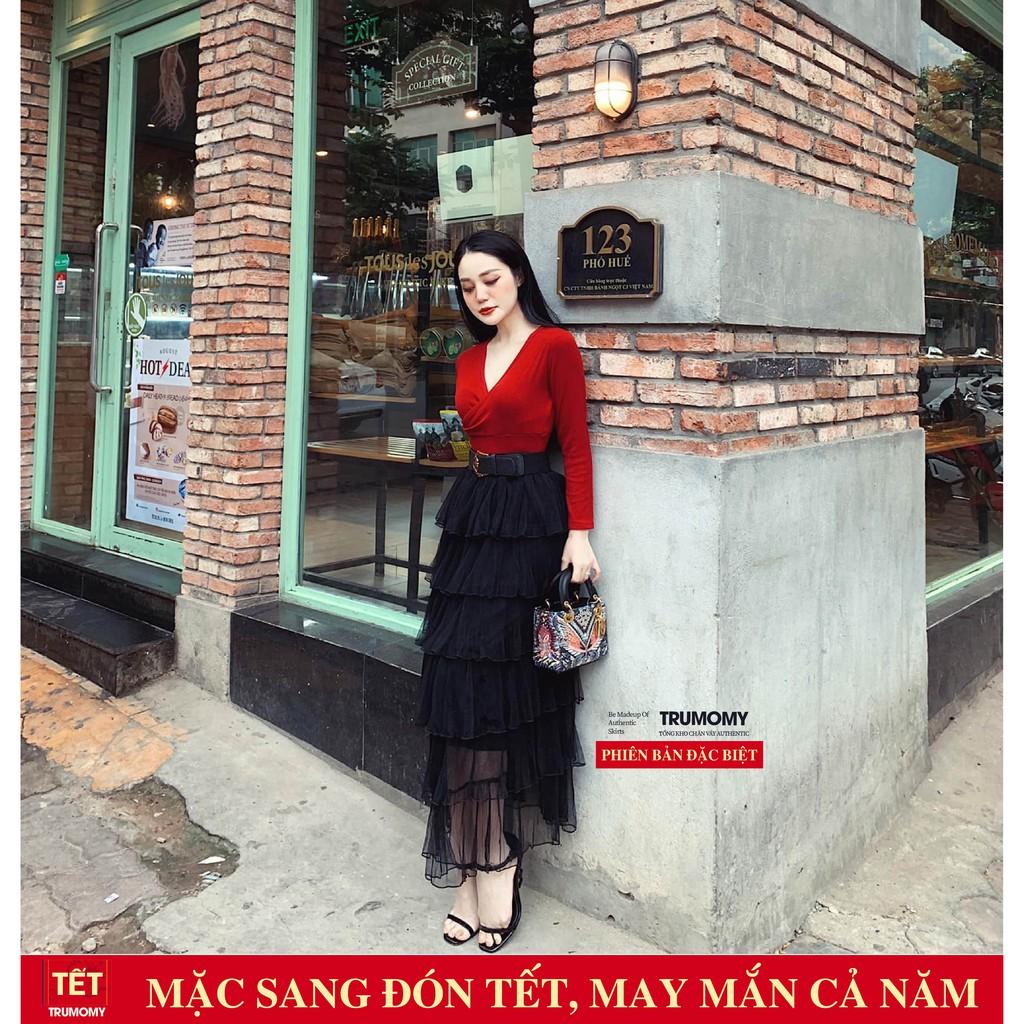Chân váy tầng dài Elena Sang Trọng Thời Thượng - QC Hàng Loại 1