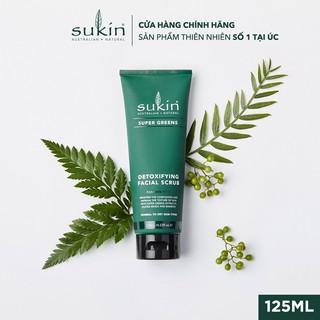 Kem Làm Sạch Tế Bào Chết Sáng Da Sukin Super Greens Detoxifying Facial Scrub 125ml-2