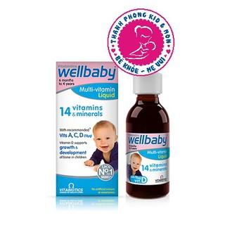 (SALE 50% ) Wellbaby ( 30ml ) - Vitamin Tổng Hợp Cho Bé Chính Hãng Của Anh (date 7 21) thumbnail