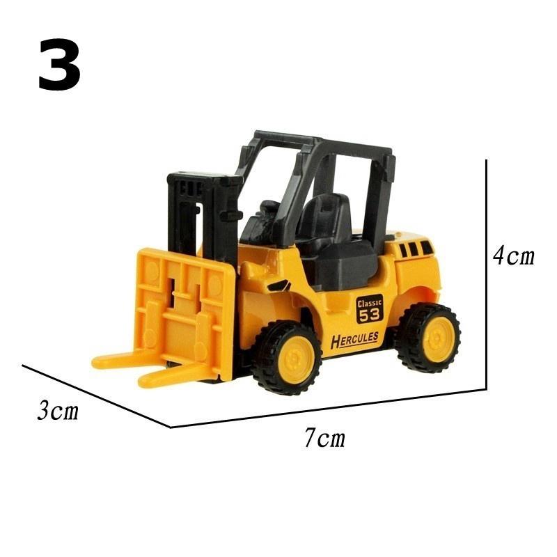 8 types Diecast Mini Alloy Construction Vehicle Engineering Car Dump-car Dump Truck Model Toy
