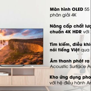 Android tivi OLED Sony 4K 55 inch KD-55A8G.MD2019