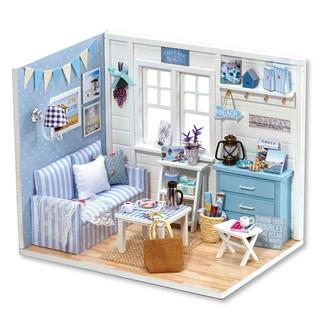 Bộ lắp ráp mô hình nhà gỗ DIY:Căn Phòng Blue H016