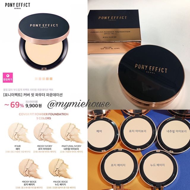 Phấn phủ dạng nén PONY EFFECT Cover Fit Powder Foundation SALE 85% - 2523801 , 352043711 , 322_352043711 , 180000 , Phan-phu-dang-nen-PONY-EFFECT-Cover-Fit-Powder-Foundation-SALE-85Phan-Tram-322_352043711 , shopee.vn , Phấn phủ dạng nén PONY EFFECT Cover Fit Powder Foundation SALE 85%
