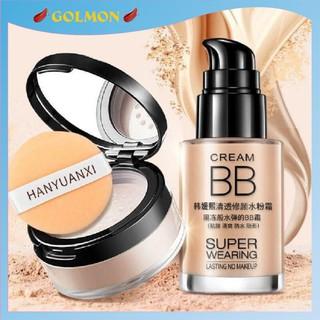 Combo trang điểm makeup kem nền che khuyết điểm và phấn phủ kiềm dầu lameila GM-CB-KNPP01 thumbnail